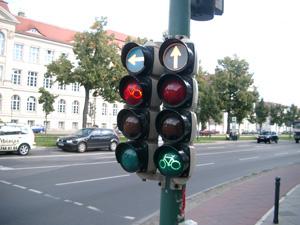 自転車専用信号@ポツダム,ドイツ