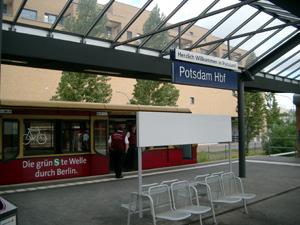 S-Bahnのポツダム駅@ポツダム,ドイツ