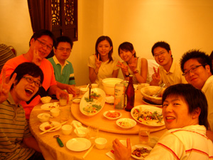 国立台湾大学(NTU)での懇親会@台北(台湾)