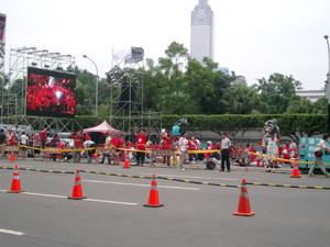 総統府近辺での大規模なデモ@台北(台湾)