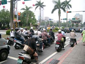 原チャリで渋滞@台北(台湾)