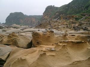 基隆和平島公園の奇岩@台湾
