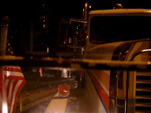 救援に駆けつけたトラックをケーブルカーから撮影@サンフランシスコ