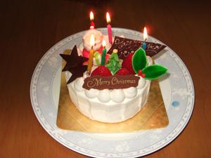 クリスマス&バースデイケーキ