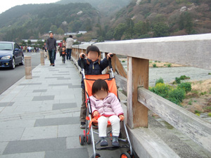 嵐山の渡月橋@京都