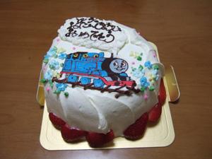 特注の機関車トーマス誕生日ケーキ