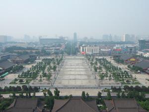 大雁塔最上階からの眺望 @ 西安,中国 大雁塔 @ 西安,中国 大雁塔最上階からの眺望 @ 西安