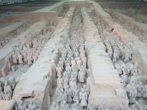 秦始皇兵馬俑博物館一号坑 @ 西安,中国