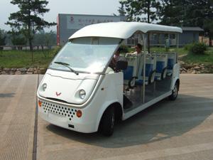 秦始皇兵馬俑博物館の電気自動車 @ 西安,中国