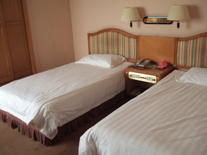 西安ホテルの客室(安い部屋) @ 西安,中国