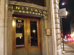 最後に食事をした高級フランス料理店 Initiale @ ケベック