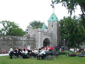 ケベックシティの至る所で音楽会が開催されていた