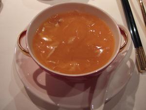 蟹肉入りフカヒレのスープ@香宮,シャングリラホテル,香港