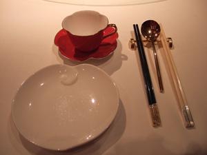 食器とお箸×2?@香宮,シャングリラホテル,香港