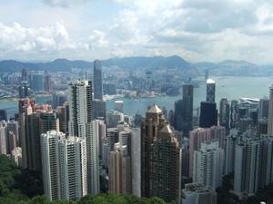 ヴィクトリアピークからの眺望@香港