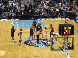 NBA Utah Jazz vs Cleveland Cavaliersゲーム開始