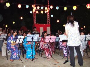 山城高校吹奏楽部の演奏@幼稚園の夏祭り