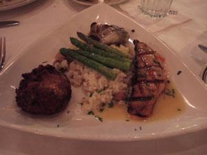 魚料理3種とリゾット@McCormick and Schmicks
