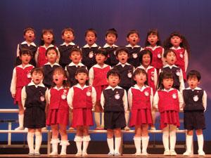 クラスの合唱@幼稚園のリズム発表会