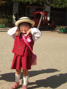 長女3歳のおばけ@幼稚園入園式