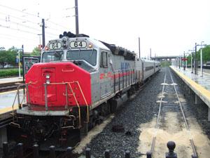 バルチモアからワシントンへ向かうMARCの列車