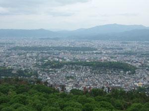 大文字山から京都市内を一望