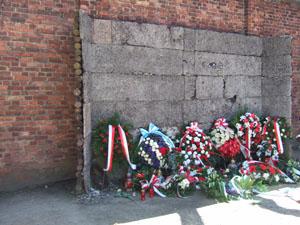 死の壁@アウシュビッツ強制収容所
