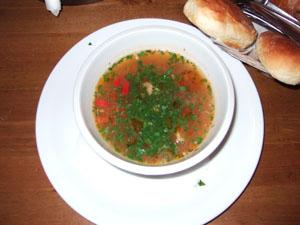 CHACZAPURIのスープ@クラクフ, ポーランド