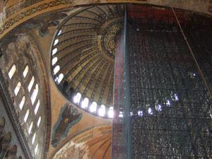 アヤソフィア博物館のドーム天井@イスタンブール, トルコ