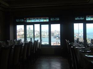 Hamadi Restaurantの3階フロアと眺望@イスタンブール, トルコ