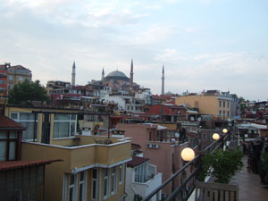 Obelisk Terraceからアヤソフィア博物館を臨む@イスタンブール, トルコ