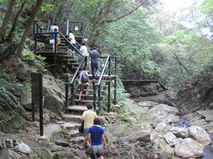 よく整備された比地大滝へのハイキングコース@国頭, 沖縄