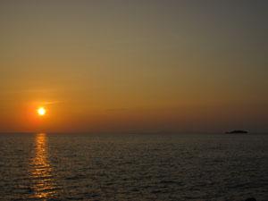 ビーチで眺めるサンセット@糸満, 沖縄