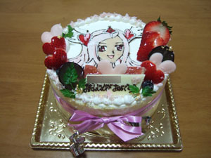 長女のバースデーケーキはフレッシュプリキュア「キュアパッション」