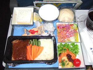 ノースウェスト航空の機内食@ハワイ家族旅行