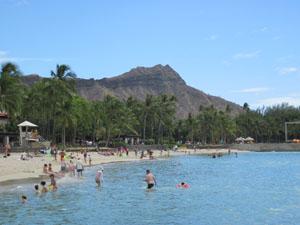 ワイキキビーチとダイヤモンドヘッド@ハワイ家族旅行
