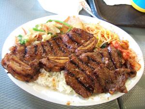 Yummy Korean B-B-Qのコンボ@ハワイ家族旅行