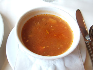 スープ(Mixed Roasted Vegetable Soup, US$4.00)@ハワイ家族旅行