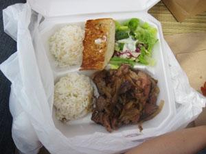 Blue Water Shrimpのステーキ(US$6.95)@ハワイ家族旅行