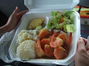 Macky'sのレモンペッパー・シュリンプ(US$12.00→US$10.00)@ハワイ家族旅行