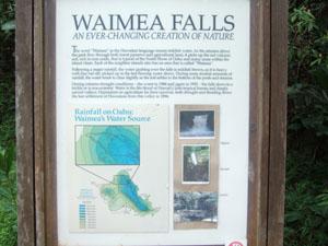 雨季と乾季で水量が激変するワイメア滝@ハワイ家族旅行