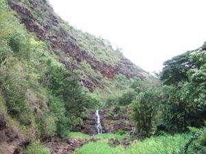 ワイメア滝@ハワイ家族旅行