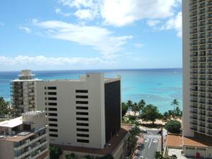 バルコニーからのオーシャンビュー@ハワイ家族旅行