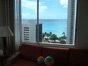 部屋からのオーシャンビュー@ハワイ家族旅行