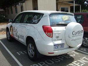 Curtin University of Technologyの宣伝用車両