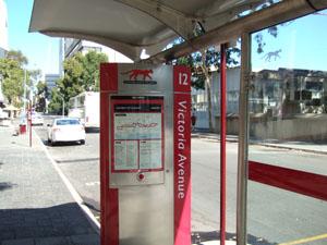 RED CATのバス停@パース,オーストラリア