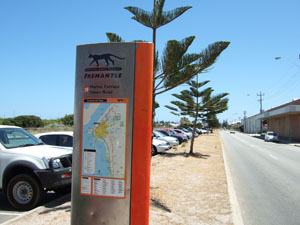 ビーチのバス停@フリーマントル,オーストラリア