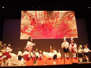 年少さんの劇@幼稚園のリズム発表会