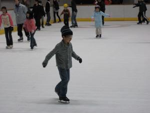 長男6歳のスケート2回目@京都アクアリーナ