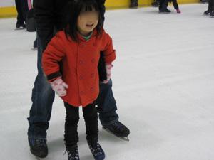 長女4歳のスケート1回目@京都アクアリーナ
